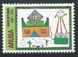 Aruba B61 60c + 30c Child Welfare 2000 mnh