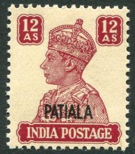 INDIA (PATIALA)-1941-46 12a  Lake Sg 115 UNMOUNTED MINT V21466