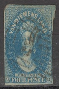 COLLECTION LOT OF #1751 AUSTRALIA STATE TASMANIA  #13 1857+