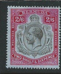 BERMUDA 1918-22 2s6d BLACK & RED/BLUE MM SG 52 CAT £40