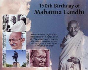 Grenadines Grenada Mahatma Gandhi Stamps 2021 MNH Historical Figures 4v M/S