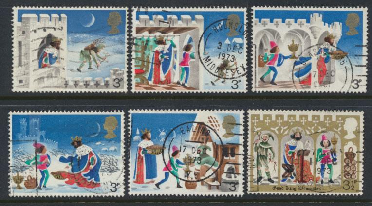 Great Britain SG 943 - SG 948  - Used  set of 6  - Christmas 1970