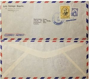 A) 1963, GUATEMALA, AIRMAIL, COVER SHIPPED TO BELLWOOD, DR. RODOLFO ROBLES ONCHO
