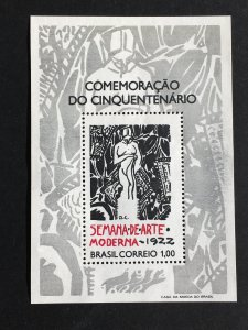 1972 BRAZIL Modern Art Week Souvenir Sheet MH, Sc# 1222