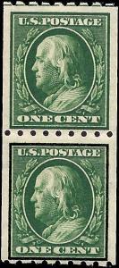 390 Mint,OG,H/NH... Pair... SCV $14.50