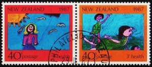 New Zealand. 1987 40c (Pair) S.G.1433/1434 Fine Used
