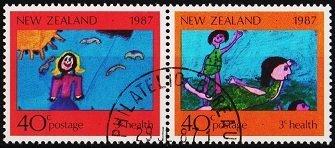 New Zealand. 1987 40c (Pair) S.G.1433/1434 Fine Used
