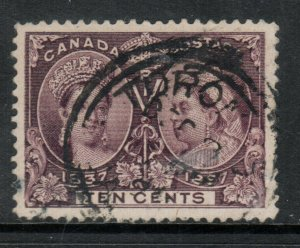 Canada #57 Extra Fine Used With Toronto 3 Ring CDS Cancel