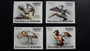 Burundi 2011. - Birds ** MNH complete set (perforated)
