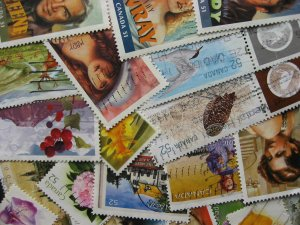 Canada 20 different used ex souvenir sheet stamps from 2005-08 era