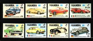 Gambia 620-627 Set MNH Classic Cars