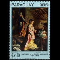 PARAGUAY 1967 - Scott# 1008 Barocci Painting 10c NH