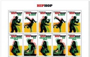 US 5480-5483 5483a Hip Hop forever header block (10 stamps) MNH 2020 after 7/15