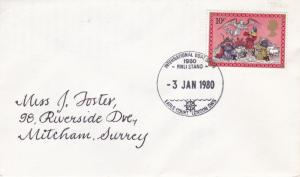 1980 GB International Boat Show RNLI Stand Special Cancel Cover VGC