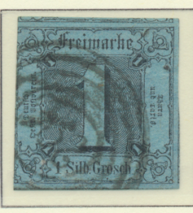 Thurn and Taxis Stamp Scott #4, Used - Free U.S. Shipping, Free Worldwide Shi...
