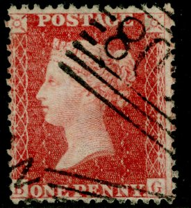 SG40, 1d rose-red PLATE 49, LC14, FINE USED. Cat £18.