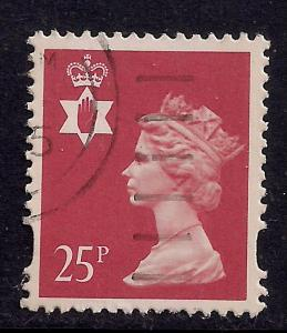Northern Ireland GB 1993 - 2000 QE2 25p Red 2 Bands SG NI 72 ( J456 )