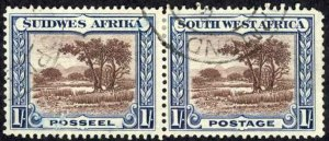 South West Africa Sc# 115 Used 1931-1937 1sh Bush Scene