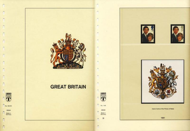 Great Britain 1981-89 Lindner Hingeless Stamp Album Pages