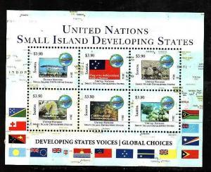 Samoa-Sc#1184-Unused NH sheet-Small Island Development States-Maps-2014-