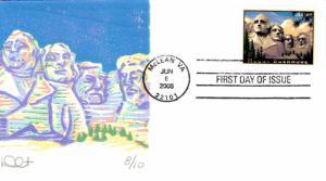 #4268 Mount Rushmore Curtis FDC