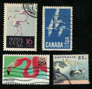 Birds Canada, Australia, USA, USSR (3342-T)