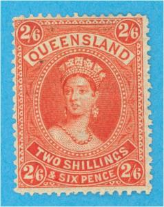 QUEENSLAND 75 MINT HINGED OG NO FAULTS VERY FINE