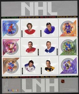 Canada 2017 MNH NHL All-Stars, Ice Hockey,