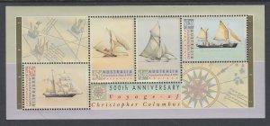 Australia 1252a Sailing Ships Souvenir Sheet MNH VF
