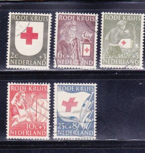 Netherlands B254-B258 Set U Red Cross (D)