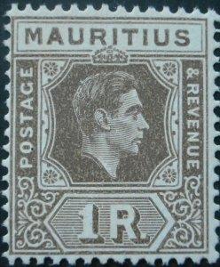 Mauritius 1938 GVI One Rupee SG 260 mint.
