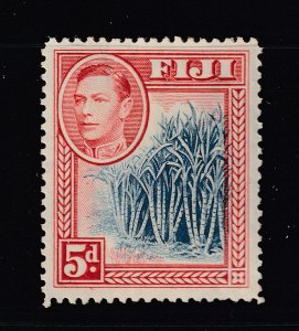 Fiji the 1938 blue & red Sugar cane 5d LHM