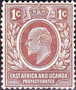 EAST AFRICA & UGANDA 1907 KEDVII 1a Brown SG34 MH