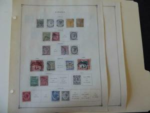 Jamaica 1860-1940 Mint/Used Stamp Collection on Scott Intl Album Pages