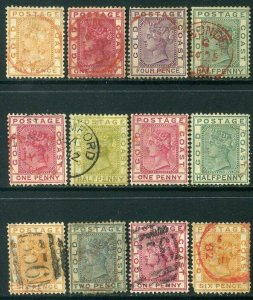 Gold Coast 1884 Lot x12 QV Used Postmarks - mixed