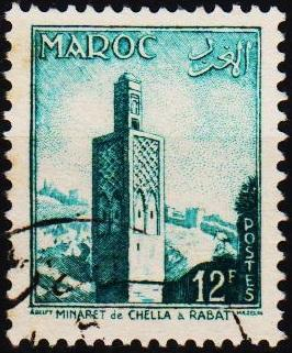 Morocco(French). 1955 12f  S.G.456 Fine Used