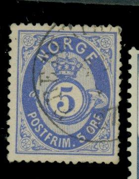 Norway #24 Used FVF Short Perf Cat$18