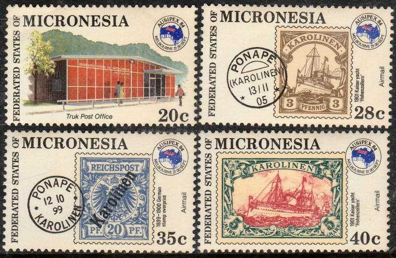 MICRONESIA 21, C4-C6, AUSIPEX PHILATELIC EXHIBITION, 1984. MNH VF (119)