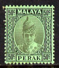 Malaya - Perak 1938-41 Sultan 50c unmounted mint, SG 118