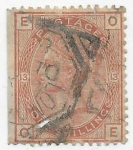 Great Britain 65 used SCV $225.00 has cut lower left, straight edge  -- 18590..