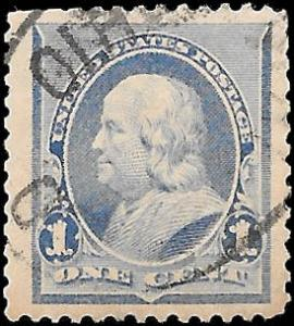 1890 US SC # 219 USED  VF JUMBO  NH ng TOWN FACE FREE CANCEL- VERY SOUND