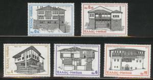 GREECE Scott 1142-1146  MNH** 1975  architecture set