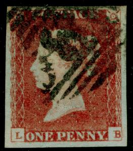 SG8, 1d red-brown, FINE USED. Cat £30. 4 MARGINS. LB