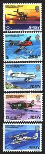 Jersey. 1979. 198-202. Aviation, aircraft. MNH.