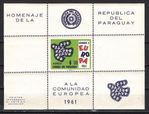 Paraguay, Scott cat. 629a. Europa sheet of 1. Cat. 90.00. ^