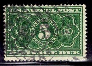 US Stamp #JQ3 5c Dark Green PP Postage Due USED SCV $4.50