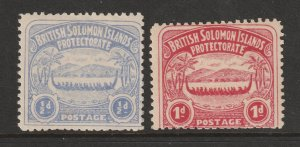 Solomon Is the MH 0.5 & 1d from the 1907 set