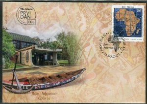 1625 - SERBIA 2021 - Africa Day - Map - FDC