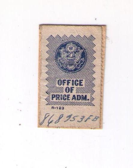Office Of Price Administration Stamp