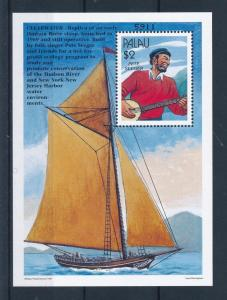 [56673] Palau 1997 Oceanographic research boat Seeger MNH Sheet
